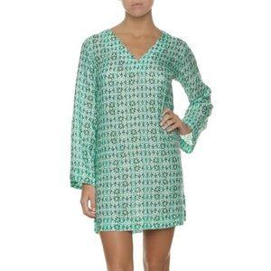 NWT HELEN JON Printed cotton silk tunic-indochine